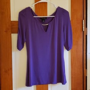 White House Black Market purple blouse size medium